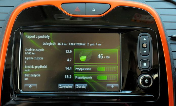 Renault Captur - komputer pokładowy