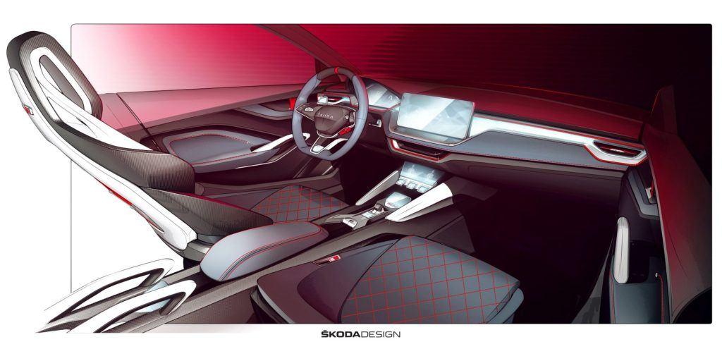 Skoda Vision RS - wnętrze