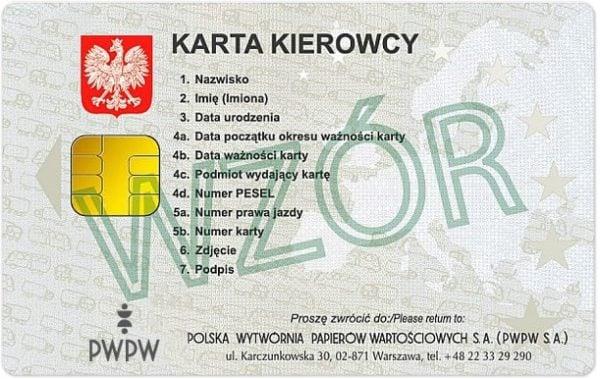 Wymiana karty kierowcy