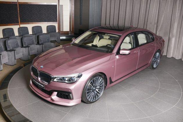 BMW 750Li xDrive w kolorze Rose Quartz