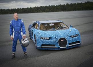 Bugatti Chiron z miliona klocków