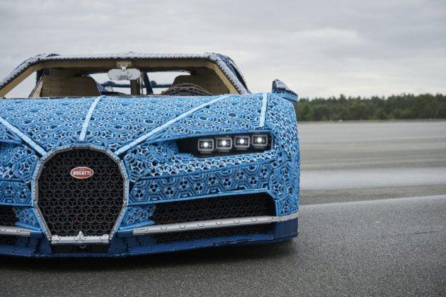 Bugatti Chiron z Lego - działające reflektory