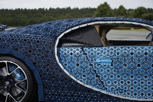 Bugatti Chiron z Lego - klamki