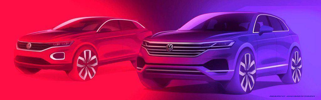 Volkswagen T-Roc i Touareg