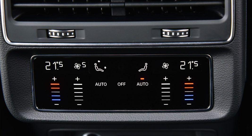 Audi Q8 - panel klimatyzacji
