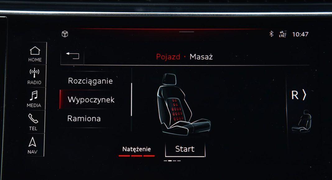 Audi Q8 - ustawienia fotela