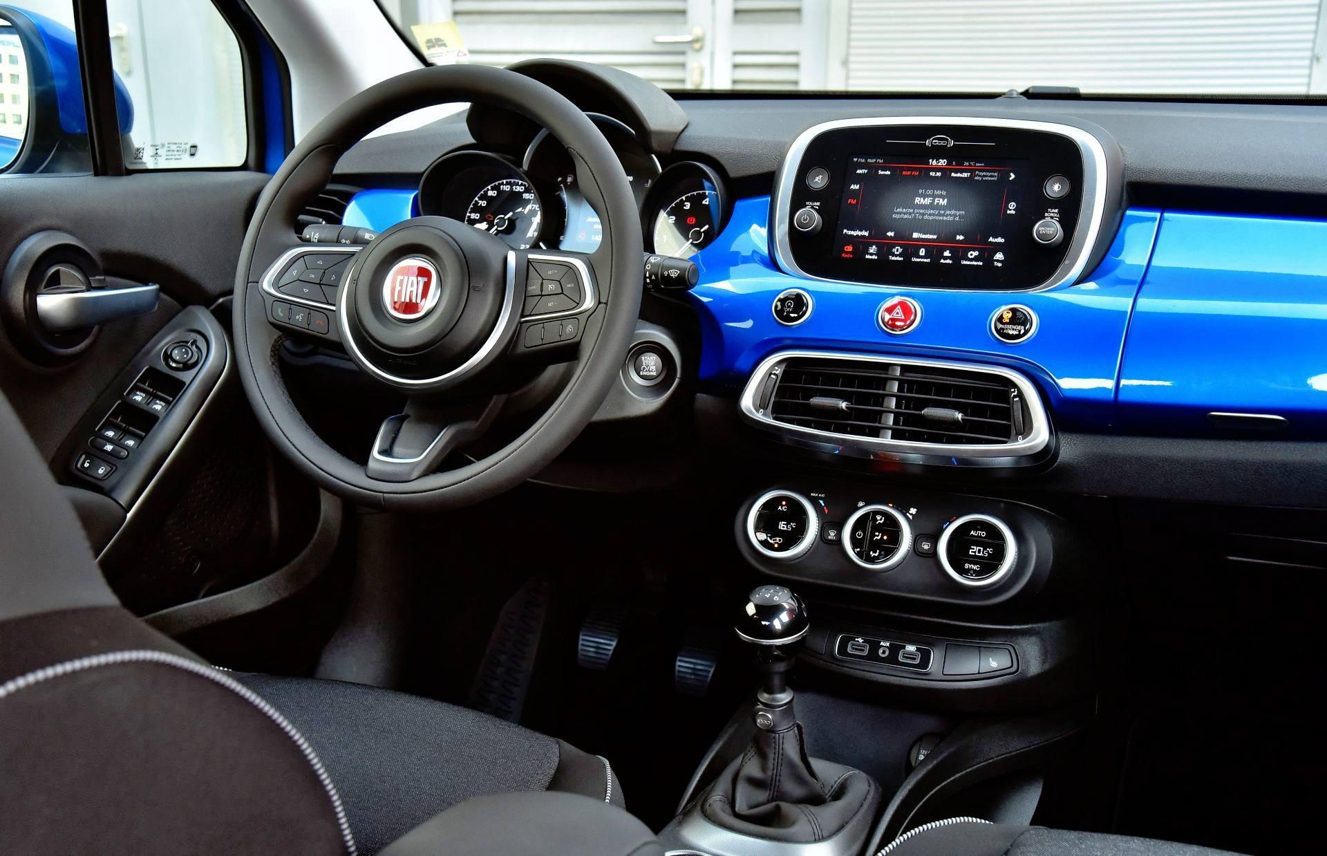 Fiat 500X FL - deska rozdzielcza
