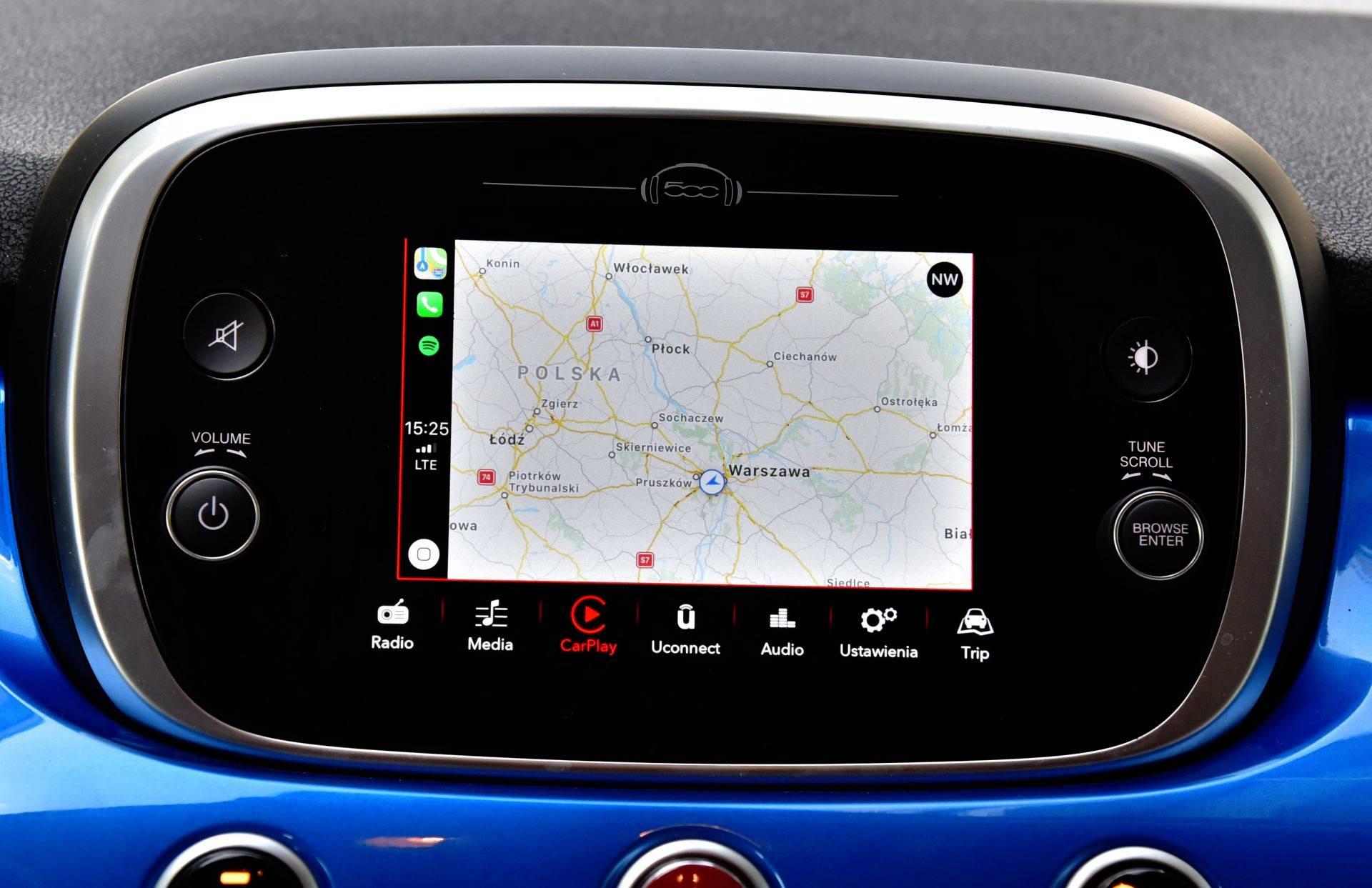 Fiat 500X FL - nawigacja