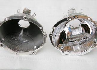 Regeneracja odbłyśników lamp. Metalizowanie reflektorów