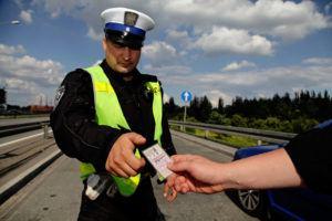 Ukazanie prawa jazdy