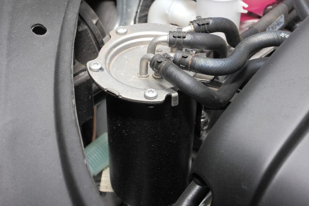Zamarznięty filtr paliwa