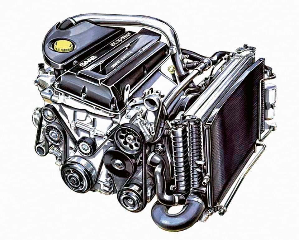 Turbodoładowany silnika Saaba