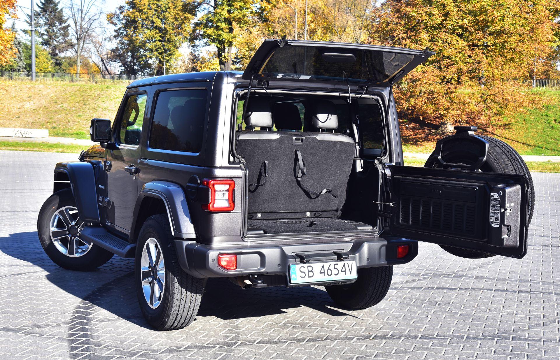 Jeep Wrangler Sahara - klapa bagażnika
