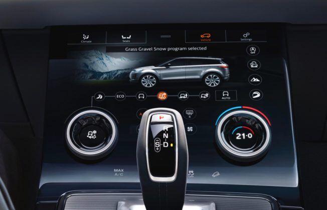 Range Rover Evoque - ekran