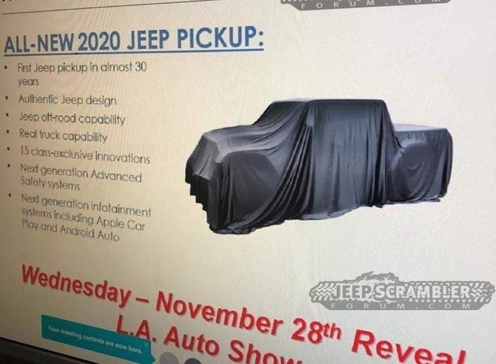 Jeep Scrambler - zapowiedź nowego pick-upa