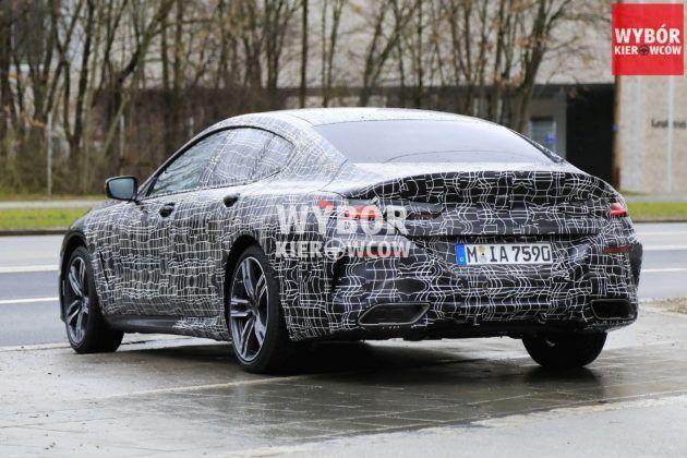 BMW serii 8 Gran Coupe (G16) - zakamuflowany egzemplarz przedprodukcyjny