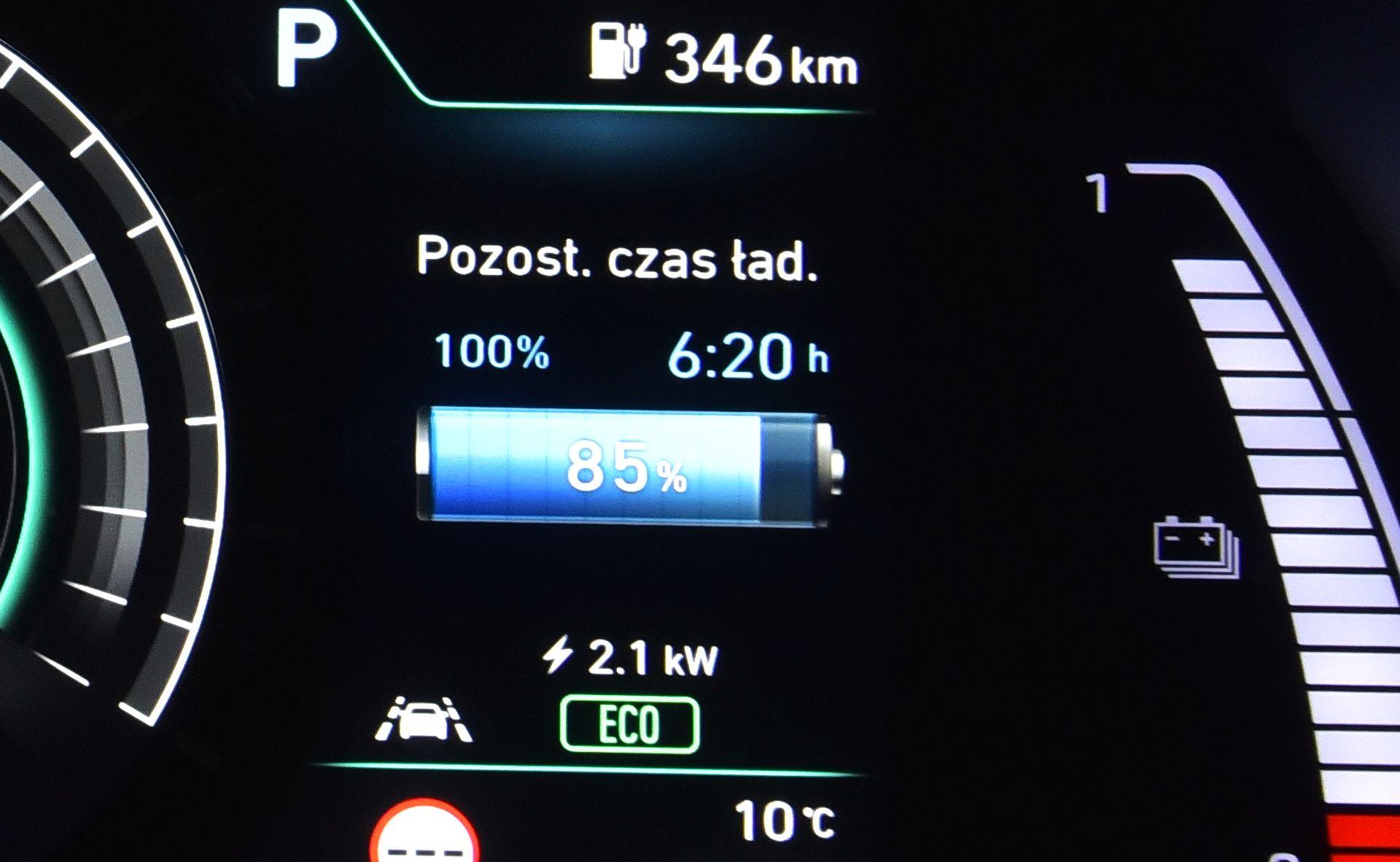 Hyundai Kona Electric - ładowanie
