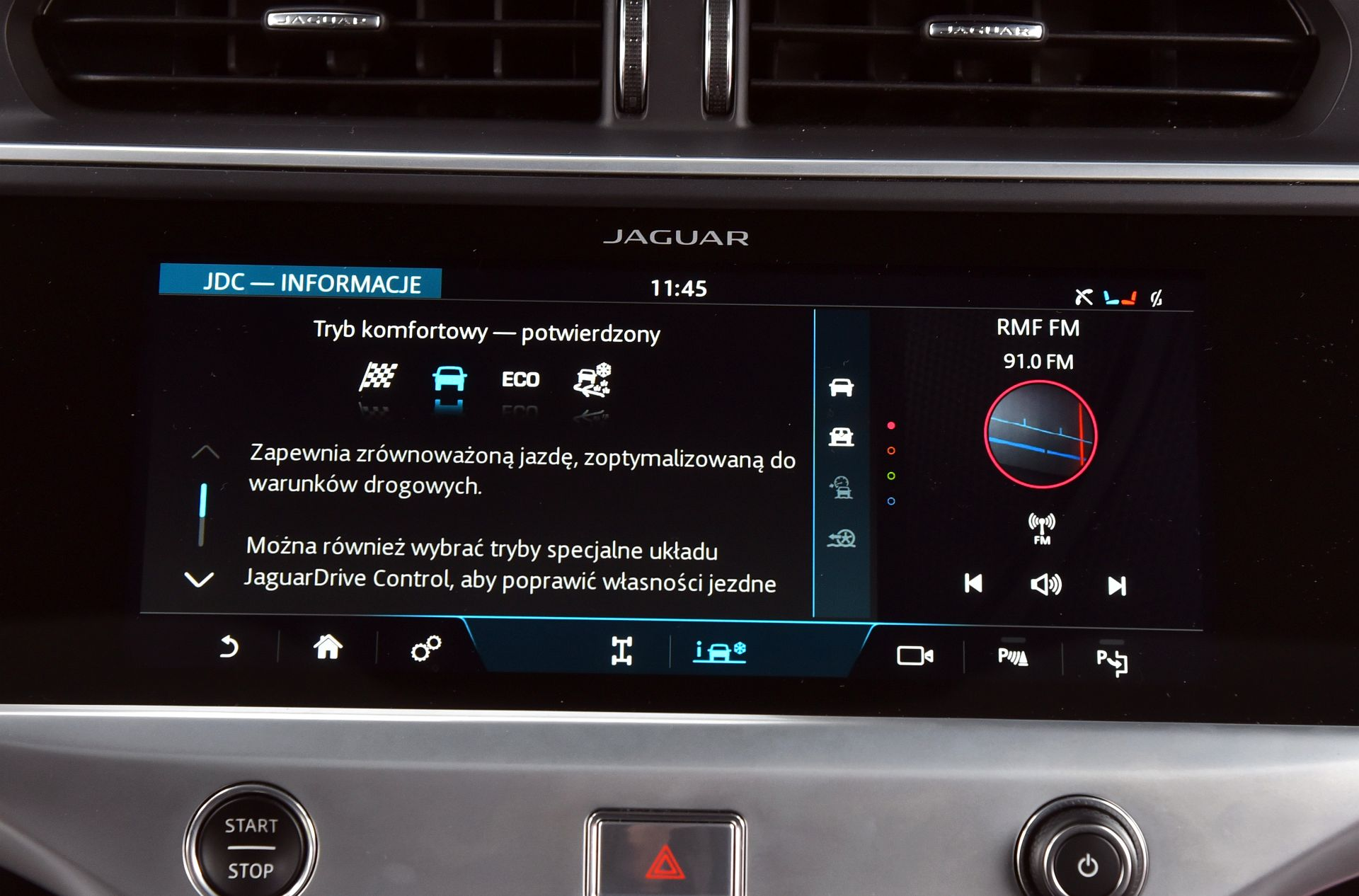 Jaguar I-Pace - tryby jazdy