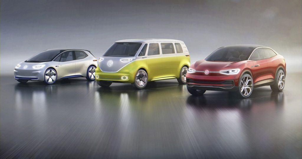 Gama prototypowych modeli VW z napędem elektrycznym z rodziny ID