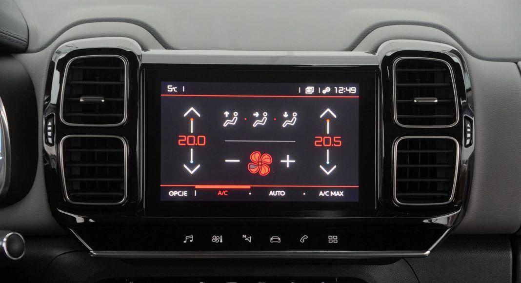 Citroen C5 Aircross - klimatyzacja