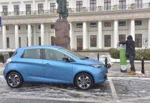 Renault Zoe - ładowanie samochodu elektrycznego