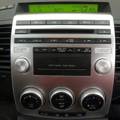 Mazda 5 I konsola środkowa