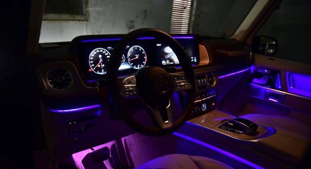 Mercedes G 500 - oświetlenie nastrojowe