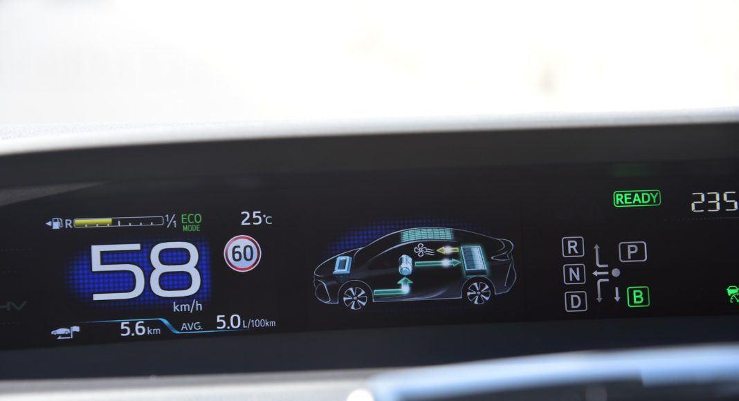 Toyota Prius Plug-In Hybrid - wskaźnik