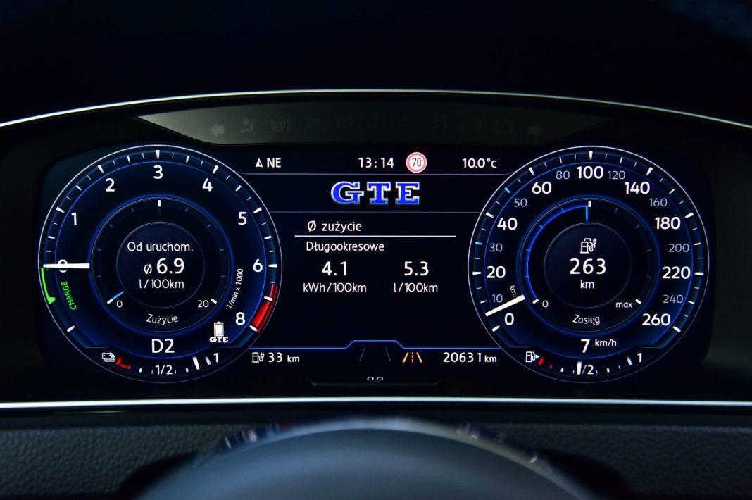 Volkswagen Golf GTE - zegary