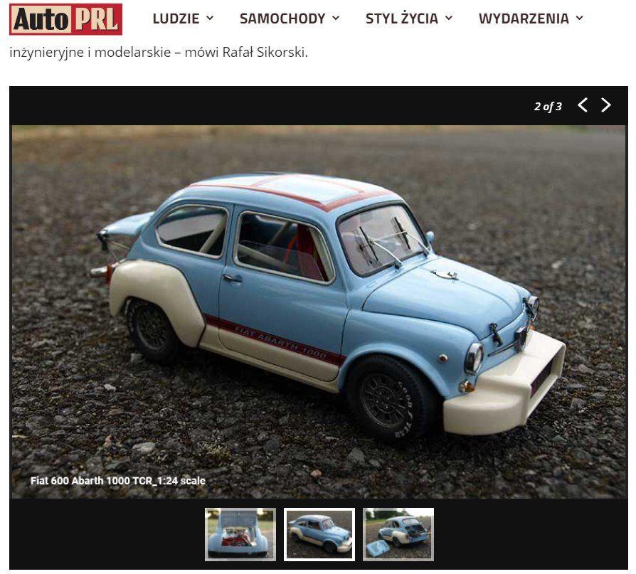 Model Fiata wykonany przez Rafała Sikorskiego