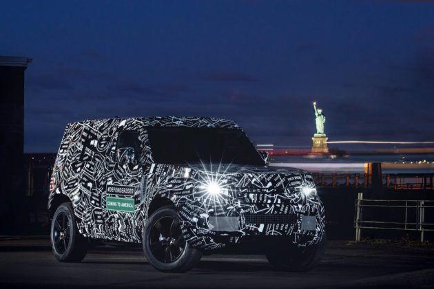 Land Rover Defender (2020) - zdjęcia w kamuflażu