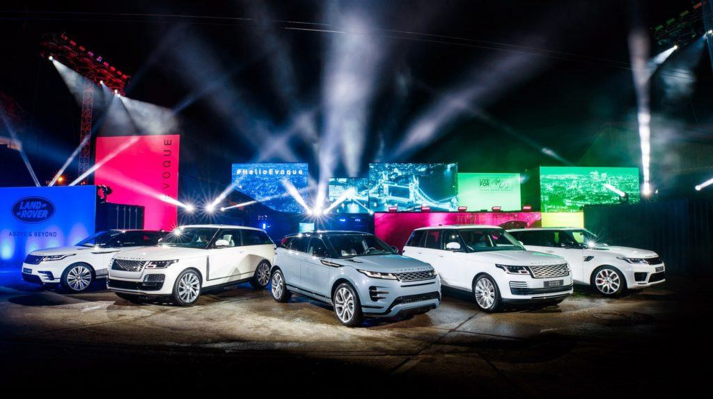 Modele Jaguar Land Rover