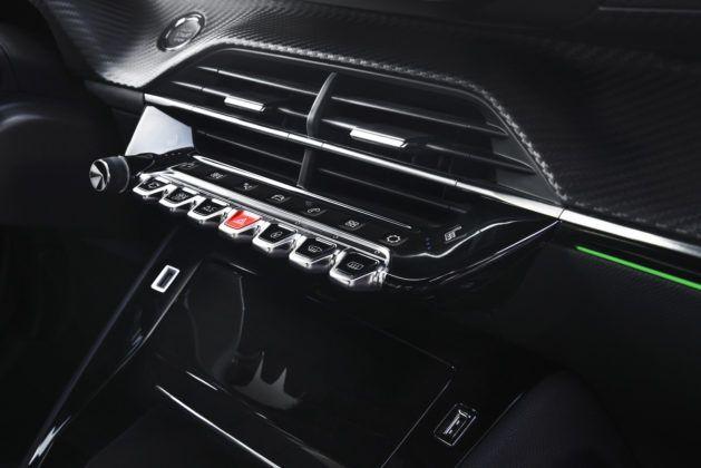 Peugeot 208 (2019) - zestaw przycisków