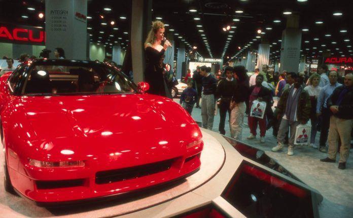 Prototyp Acura NS-X, salon samochodowy w Chicago 1989