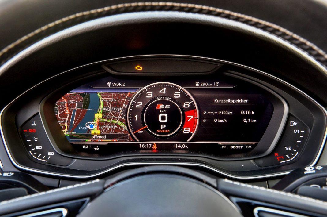 Audi S5 Sportback - zegary