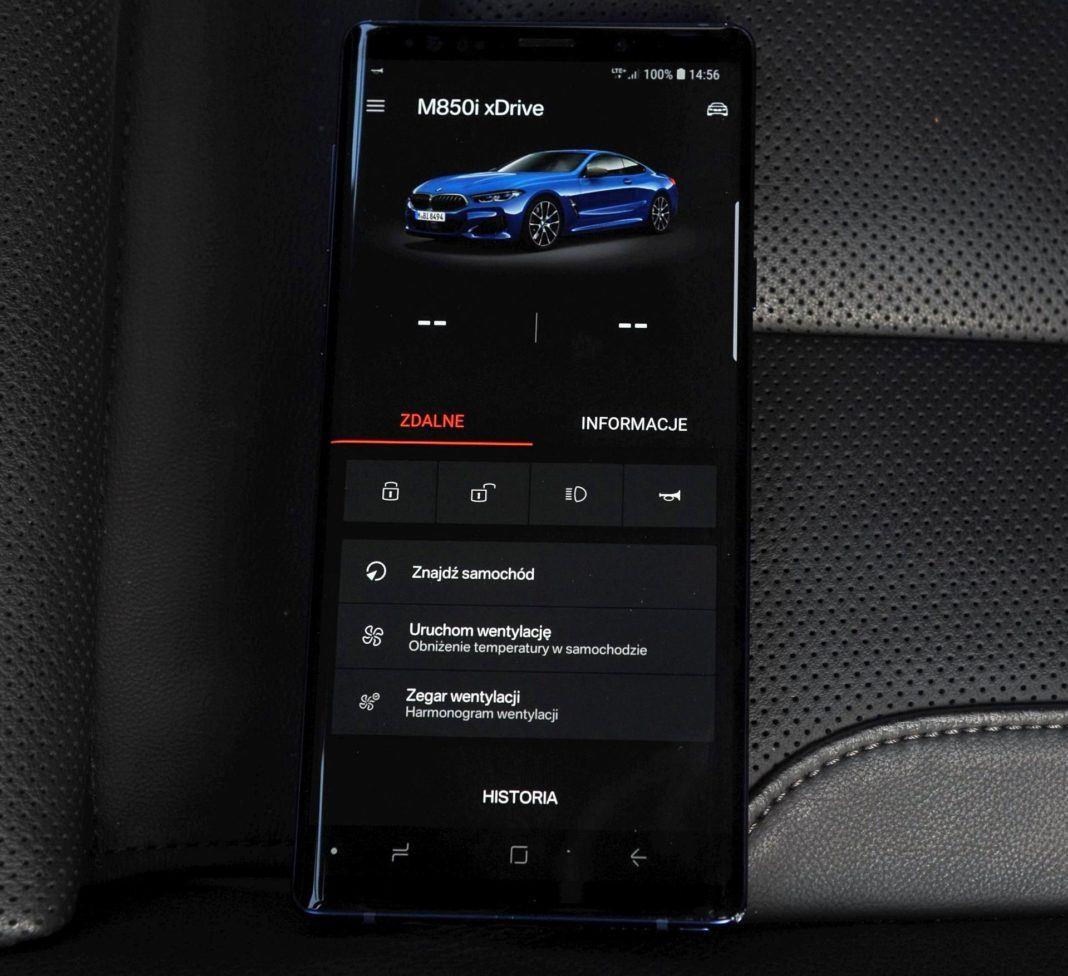 BMW M850i - aplikacja