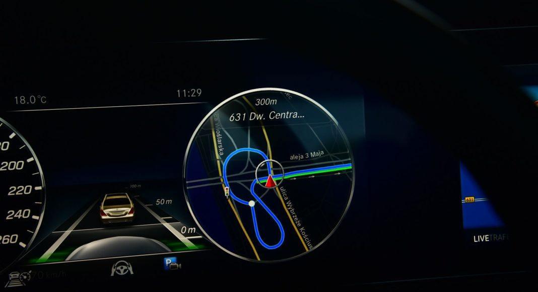 Mercedes CLS - mapa nawigacji