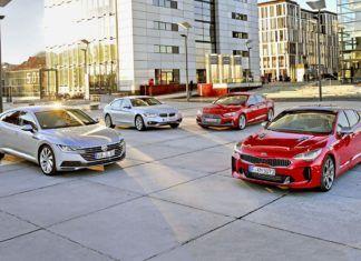 Liftbacki klasy średniej. Porównanie VW Arteona z Audi S5, BMW serii 4 i Kią Stinger