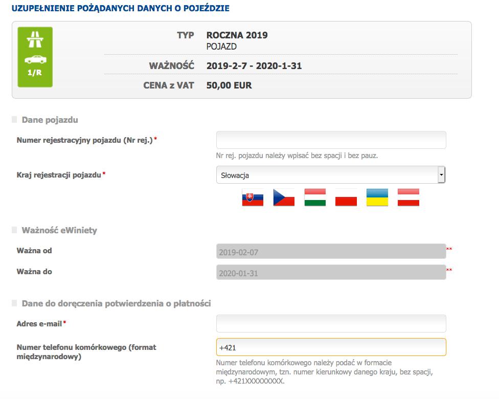 Słowacja - jak kupić winietę online
