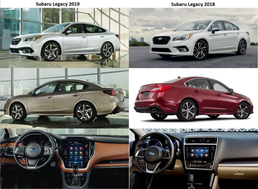 Subaru Legacy - rocznik 2019 vs 2018