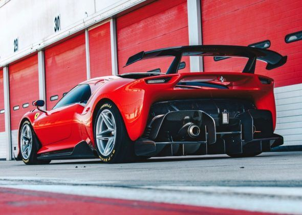 Ferrari P80/C - tył