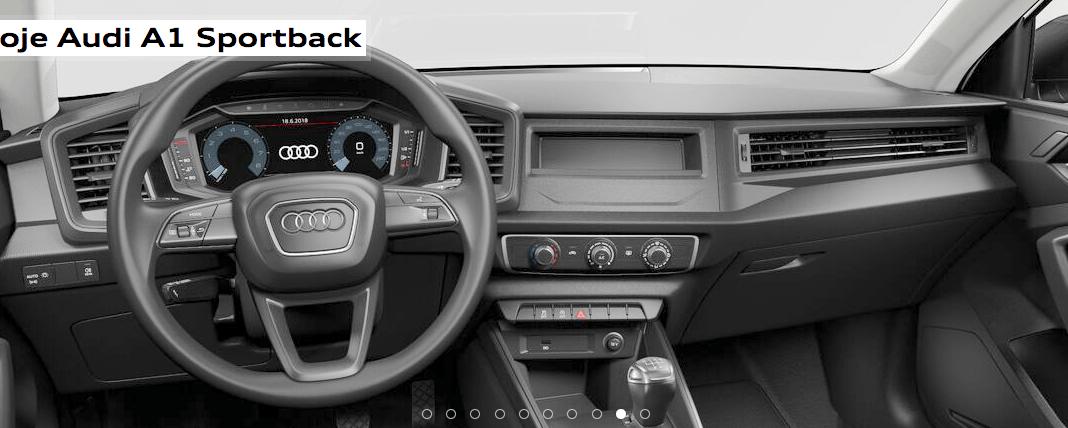 Audi A1 Sportback - kokpit