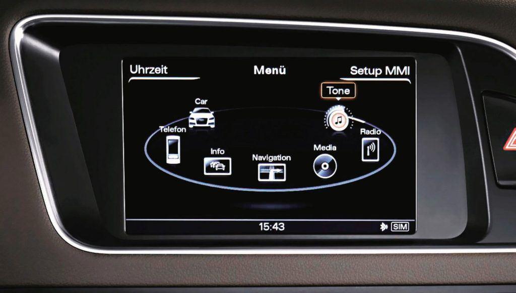 Audi - wyświetlacz