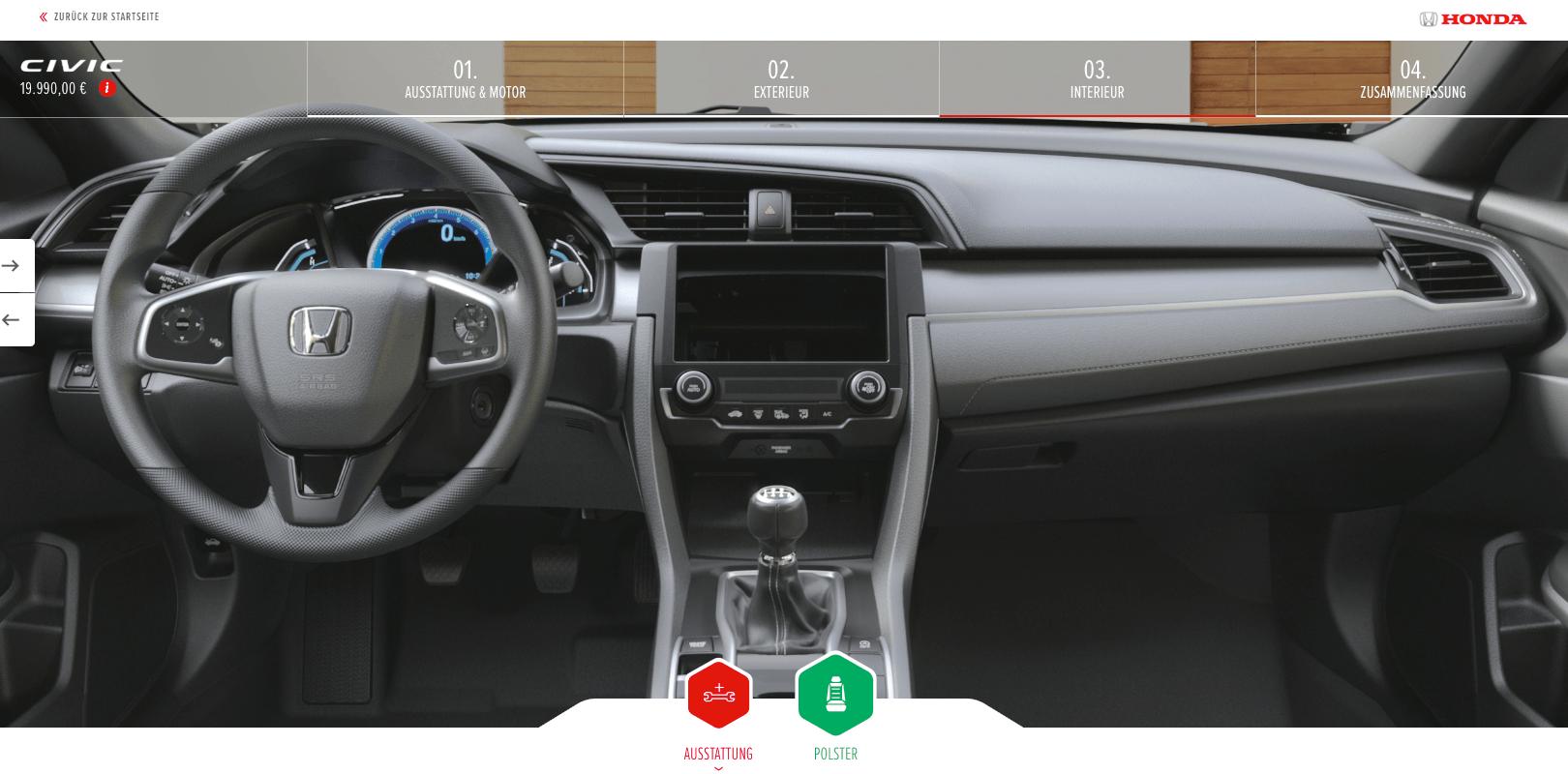 Honda Civic - kokpit