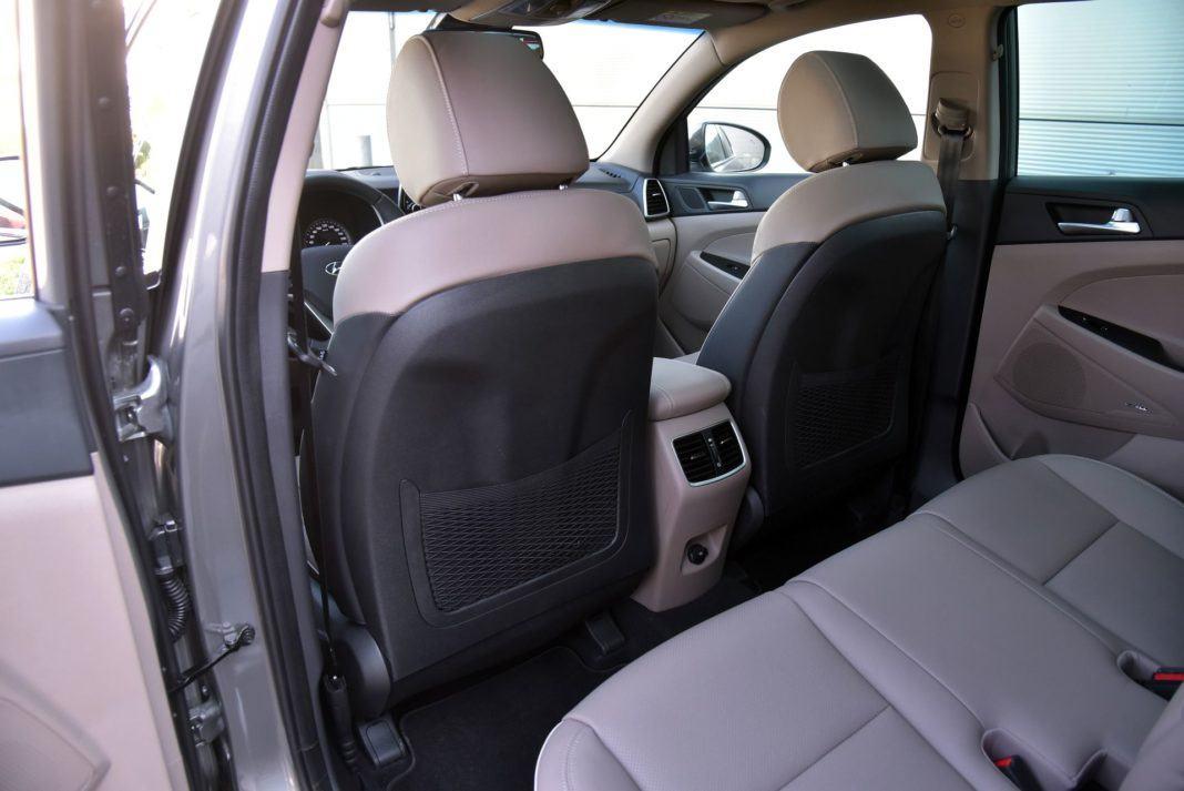 Hyundai Tucson 1.6 T-GDI - oparcie fotela