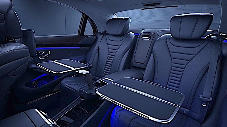 Mercedes-Maybach - rozkładane stoliki