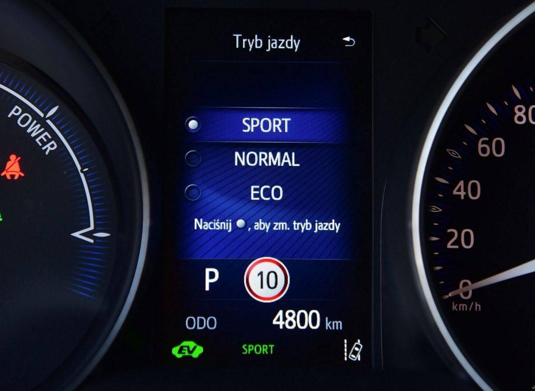 Toyota C-HR Hybrid - tryby jazdy