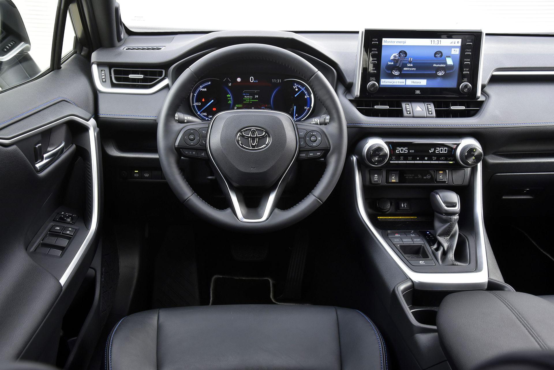 Toyota RAV4 Hybrid - deska rozdzielcza