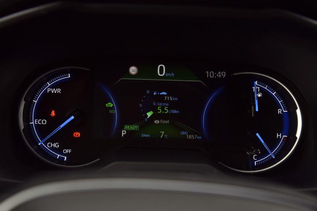 Toyota RAV4 Hybrid - zegary (2)