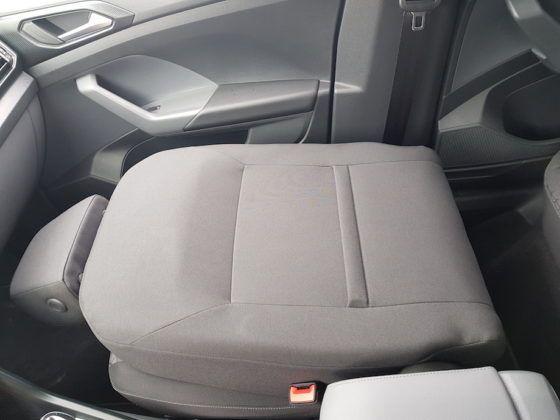 Volkswagen T-Cross - kładzione oparcie